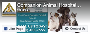 Facebook Like - Companion Animal Hospital at Loggers Run