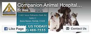 Facebook Like - Companion Animal Hospital at Loggers Run