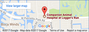 Map - Companion Animal Hospital at Loggers Run