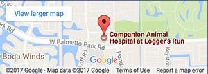 Map - Companion Animal Hospital at Loggers Run